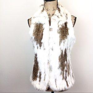 Wilson Rabbit Fur Zip Front Vest M - N0006